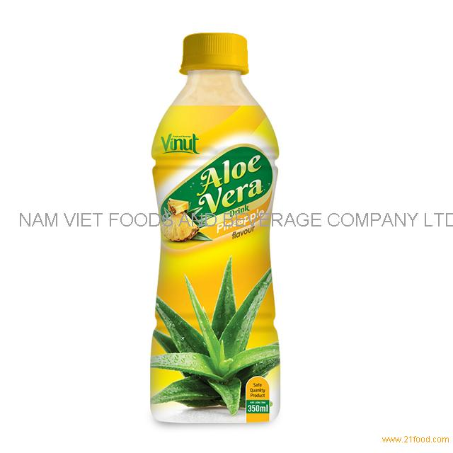 350ml Bottle Natural Aloe Vera Juice with Pineapple juice