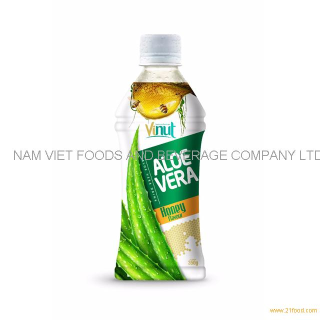 350ml Wholesale Bottle Natural Aloe Vera Juice with Honey flavor