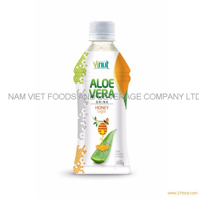350ml Wholesale Supplier Bottle Natural Aloe Vera Juice with Honey flavor