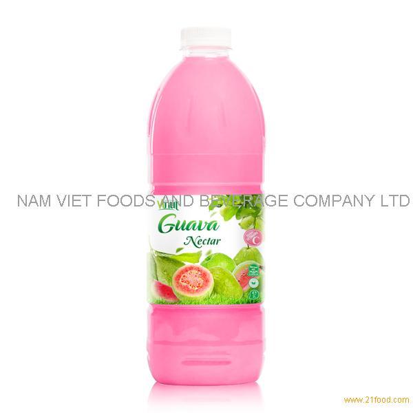 VINUT factory Fruit juice Nectar Guava nectar 2L pet bottle OEM private label