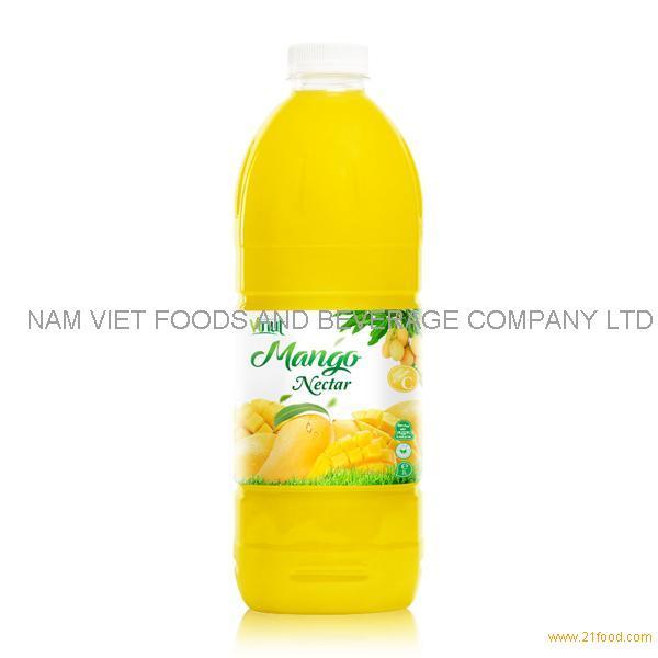 VINUT factory Fruit juice Nectar Mango nectar 2L pet bottle OEM private label
