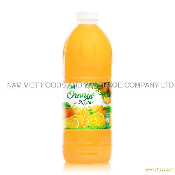 VINUT factory Fruit juice Nectar Orange nectar 2L pet bottle OEM private label