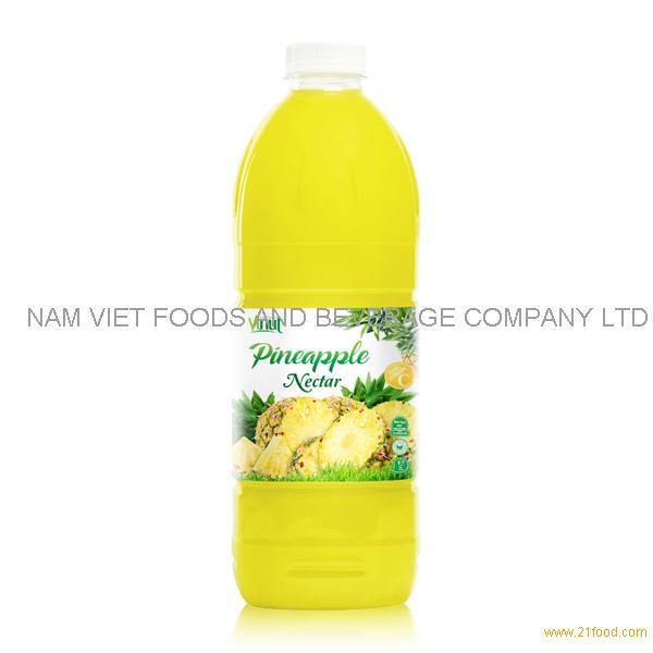 VINUT factory Fruit juice Nectar Pineapple nectar 2L pet bottle OEM private label