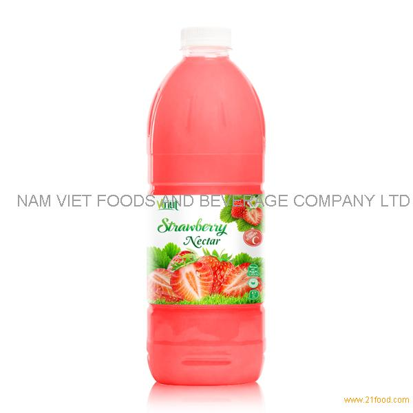 VINUT factory Fruit juice Nectar Strawberry nectar 2L pet bottle OEM private label
