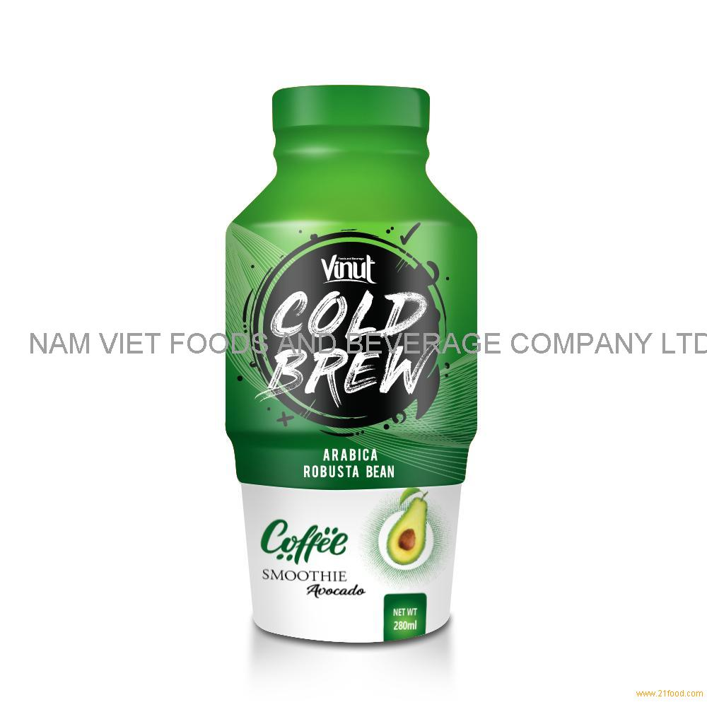 280ml VINUT Smoothie Cold Brew Coffee Drink with Avocado
