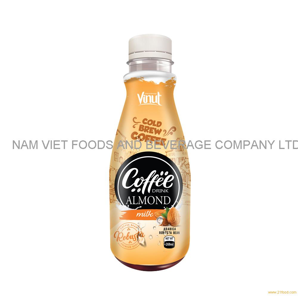 269ml Premium Smoothie Cold Brew Coffee Drink with Almond milk