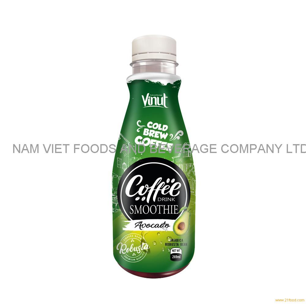 269ml Premium Smoothie Cold Brew Coffee Drink with Avocado juice