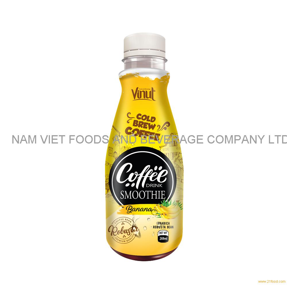 269ml Premium Smoothie Cold Brew Coffee Drink with Banana juice