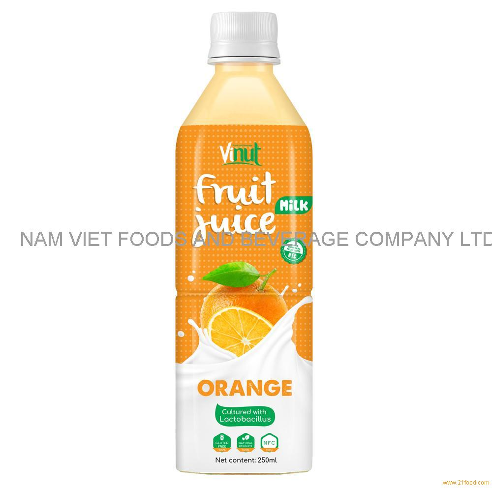 500ml VINUT Health Drink Lactobacillus acidophilus with Orange Juice