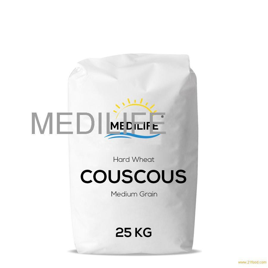 Premium Hard Wheat Couscous Medium Grain Bag 25 Kg