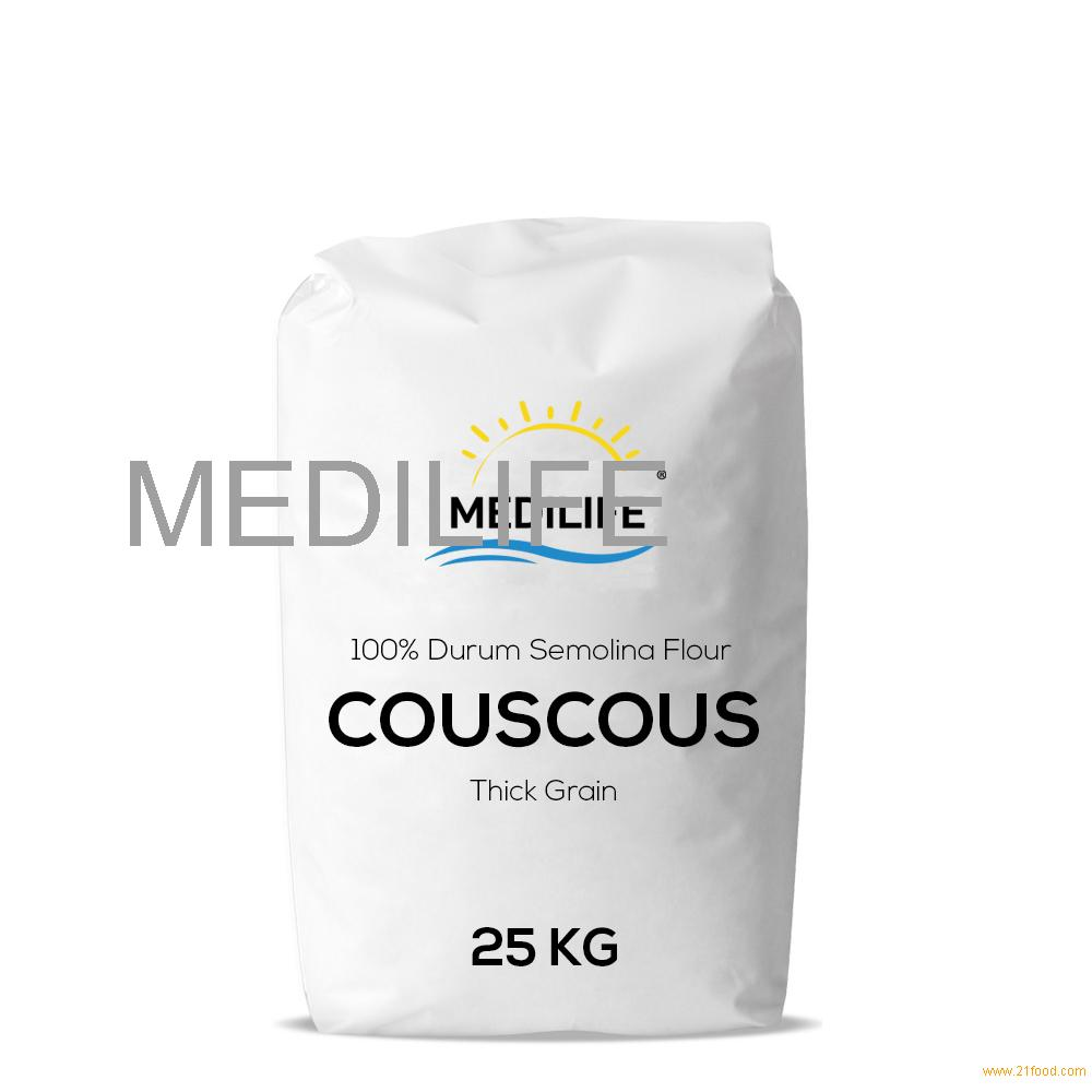 Premium Couscous With Whole Wheat Thick Grain Bulk 25 Kg