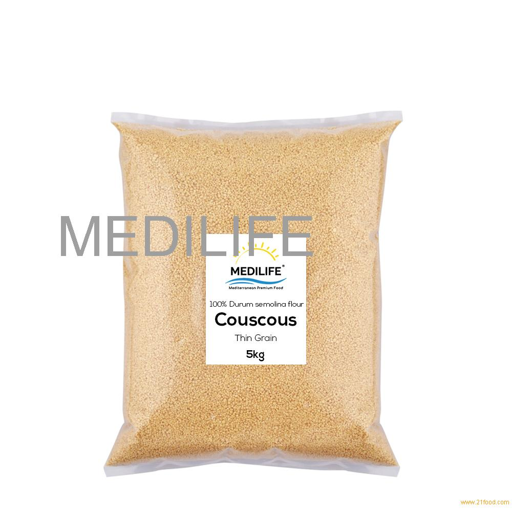 Whole Hard Wheat Couscous Thin Grain Bulk 5 Kg bag