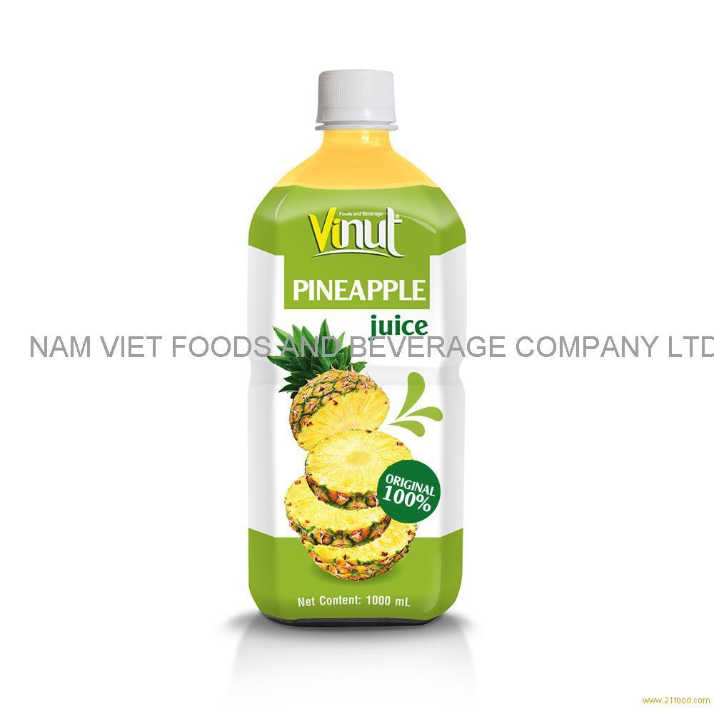 1000ml 100% Original Bottle Pineapple juice drink