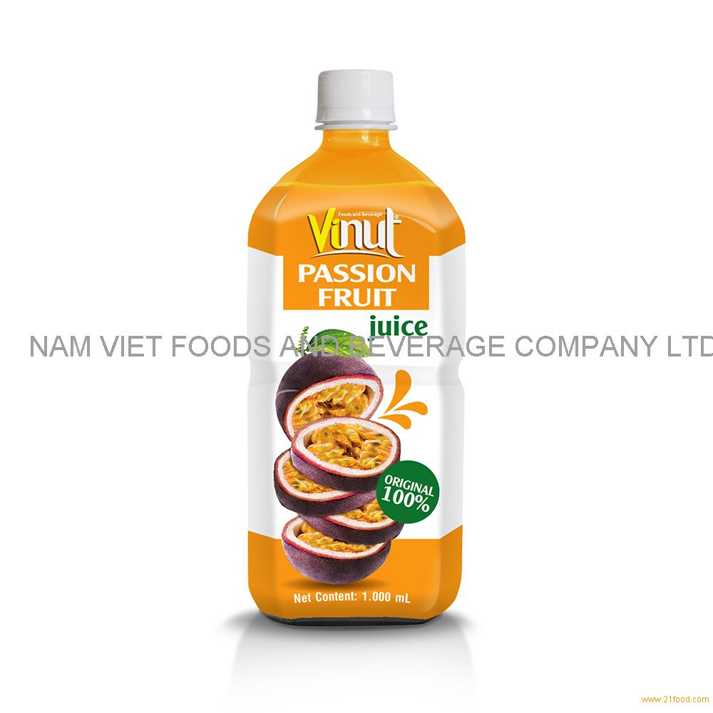 1000ml 100% Original Bottle Passion fruit juice drink