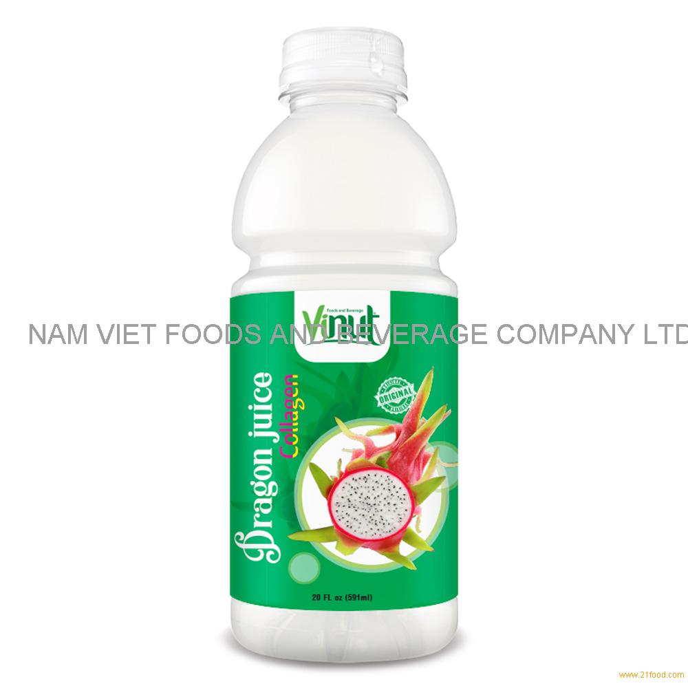 20 fl oz VINUT Bottle Dragon Juice Drink with Collagen