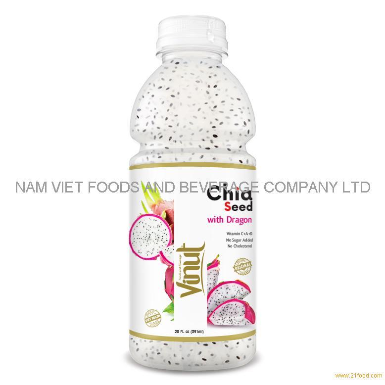 20 fl oz VINUT Bottle Chia seed drink with Dragon