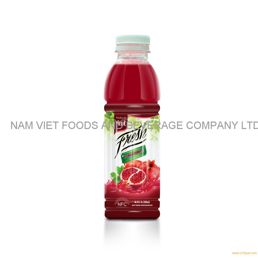 16.9 fl oz VINUT Bottle Fresh Pomegranate Juice Drink