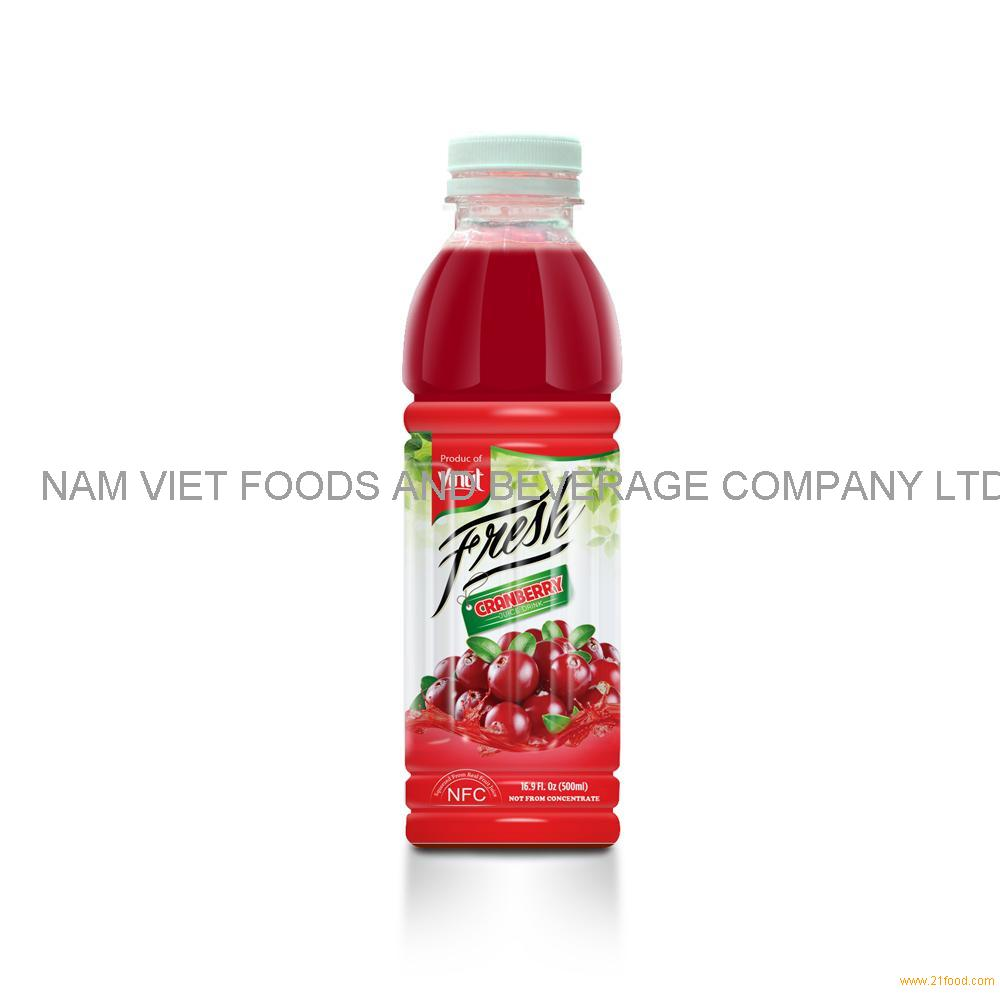 16.9 fl oz VINUT Bottle Fresh Cranberry Juice Drink