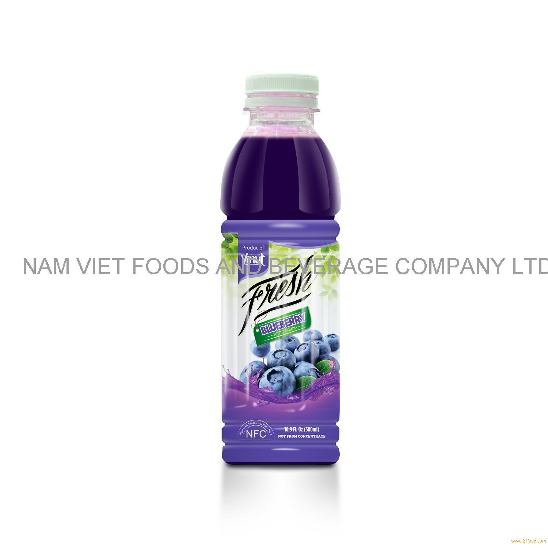 16.9 fl oz VINUT Bottle Fresh Blueberry Juice Drink