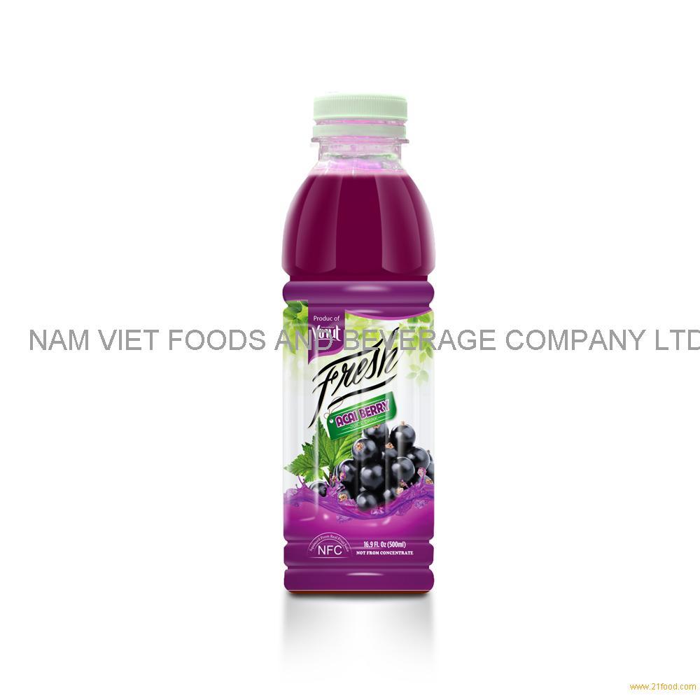 16.9 fl oz VINUT Bottle Fresh Acaiberry Juice Drink