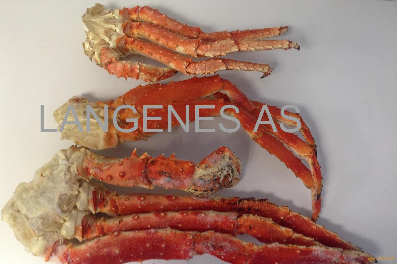 Cooked frozen red king crab legs