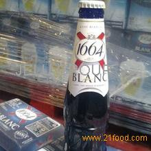 Kronenbourg 1664 blanc beer wholesale in blue 25cl and 33cl bottles and 50cl Cans