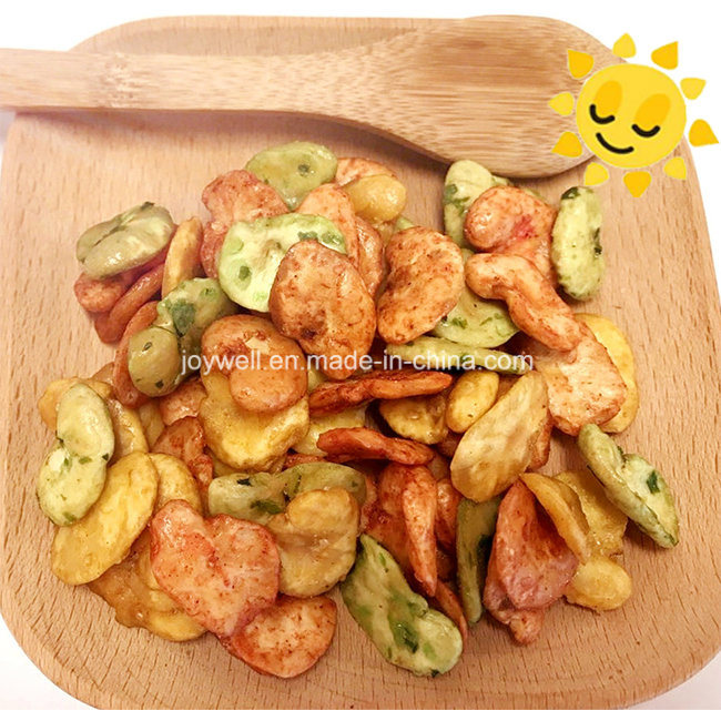 Crispy Chips Made of Broad Bean/Fava Beans Rosted Coated OEM Packing