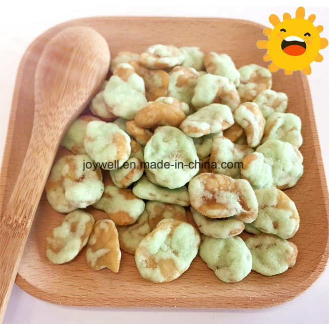Wasabi Flavor Healthy Broad Bean/Fava Beans Chip Roasted Coated in Bulk Bag