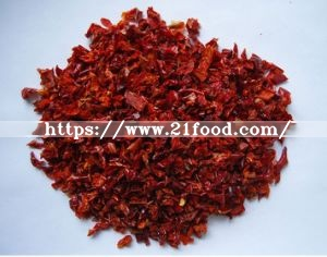 Dehydrated Red Bell Peppers 6X6 mm