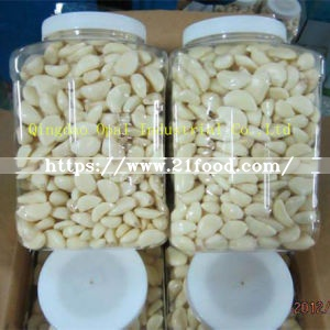 China Fresh Barrel Packing White Peeled Garlic Glove Garlic Granule Garlic