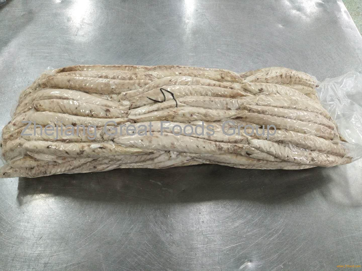 Frozen precooked mackerel loin process by 400-600 raw material