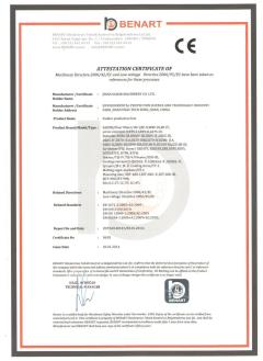 CE  CERTIFICATE OF FODDER PRODUCTION LINE
