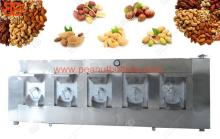 Large capacity roasting machine for nuts