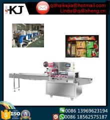 Computer control fast pillow packaging machine for instant noodle,moon cake,bread