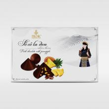 HENK CONICAL LEAF HAT DARK CHOCOLATE WITH PINEAPPLE 120G
