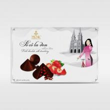 HENK CONICAL LEAF HAT DARK CHOCOLATE WITH STRAWBERRY 120G
