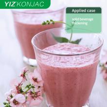 Камедь Конжака используется в напитках и молочных продуктах.