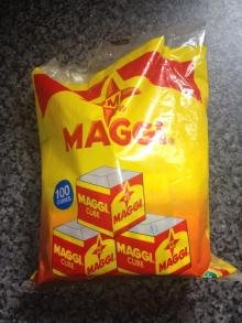 We suply Magi cubes ( Chicken Flavour ) and other food condiments