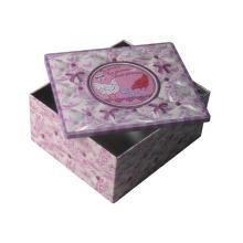 glossy square valen tin e  gift   tin   box