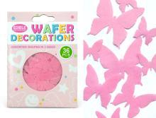 Sugar Free-edible wafer butterflies / cake topping