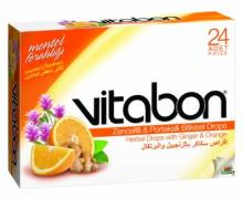 Ginger Candy Sore Throat Lozenge Herbal Drops with Ginger and Orange Vitabon Bonbon Candy