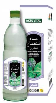 Aromatic Peppermint Leaf Water 500 ml Glass Bottle Natural Floral Health Drink
