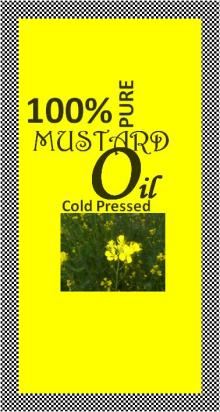 Cold Pressed Unrefined Indian Mustard Oil