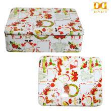 Christmas Rectangular  Gift   Tin   Box ,Candy  Tin   Box