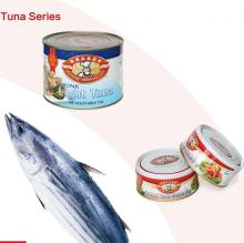 CANNED TUNA FISH CHUNKS IN BRINE, OIL, WATER