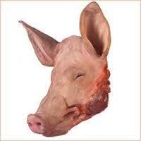 PORK HEAD , HINT FEETS AND TONGUE FOR SALE