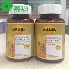organic certified anti aging  royal   jelly   capsule