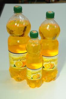 Orange Carbonated Soft Drink in PET Bottle