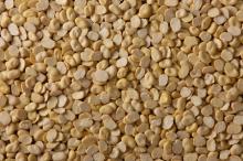 Split white speckled kidney bean