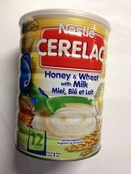 Nestle Cerelac Rice & 3 Cereals with Milk 400gr Tin.